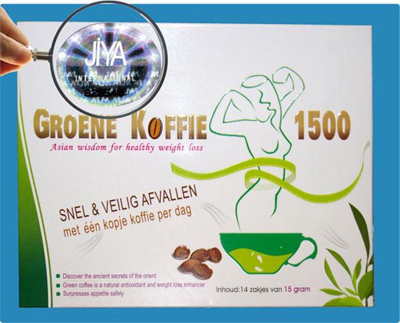nieuwe hologram groene koffie 1500